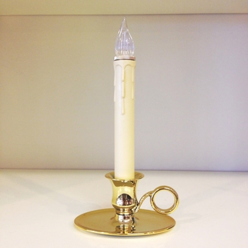 Williamsburg LED Window Candle, Battery Operated with Sensor (Automatic on-off light)