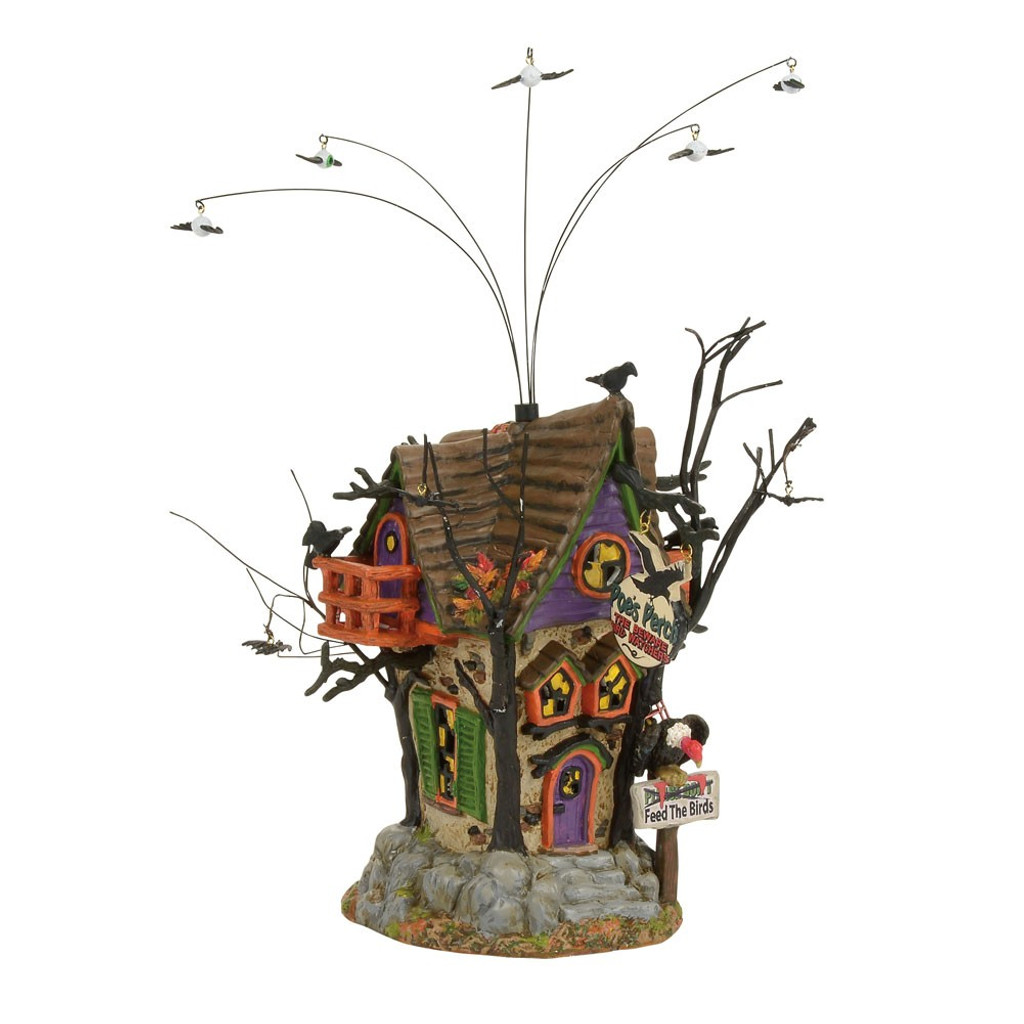 *2017* Department 56 - Halloween Village -Poe's Perch Aviary