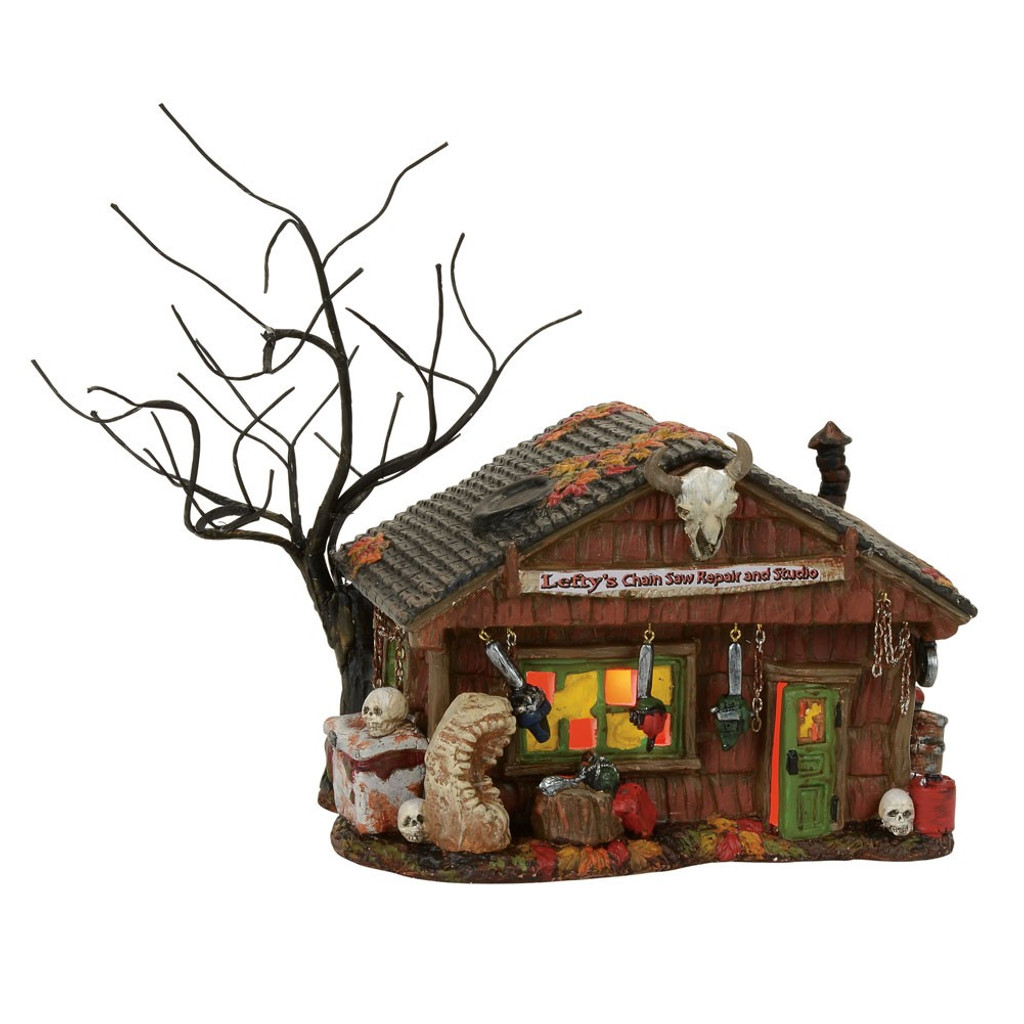 *2017* Department 56 - Halloween Village -Lefty's Chain Saw Repair