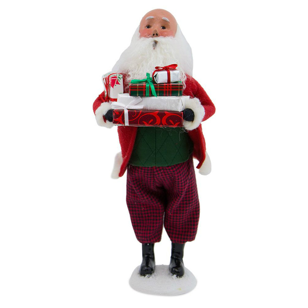 2017 Byers Choice - Bald Santa With Packages