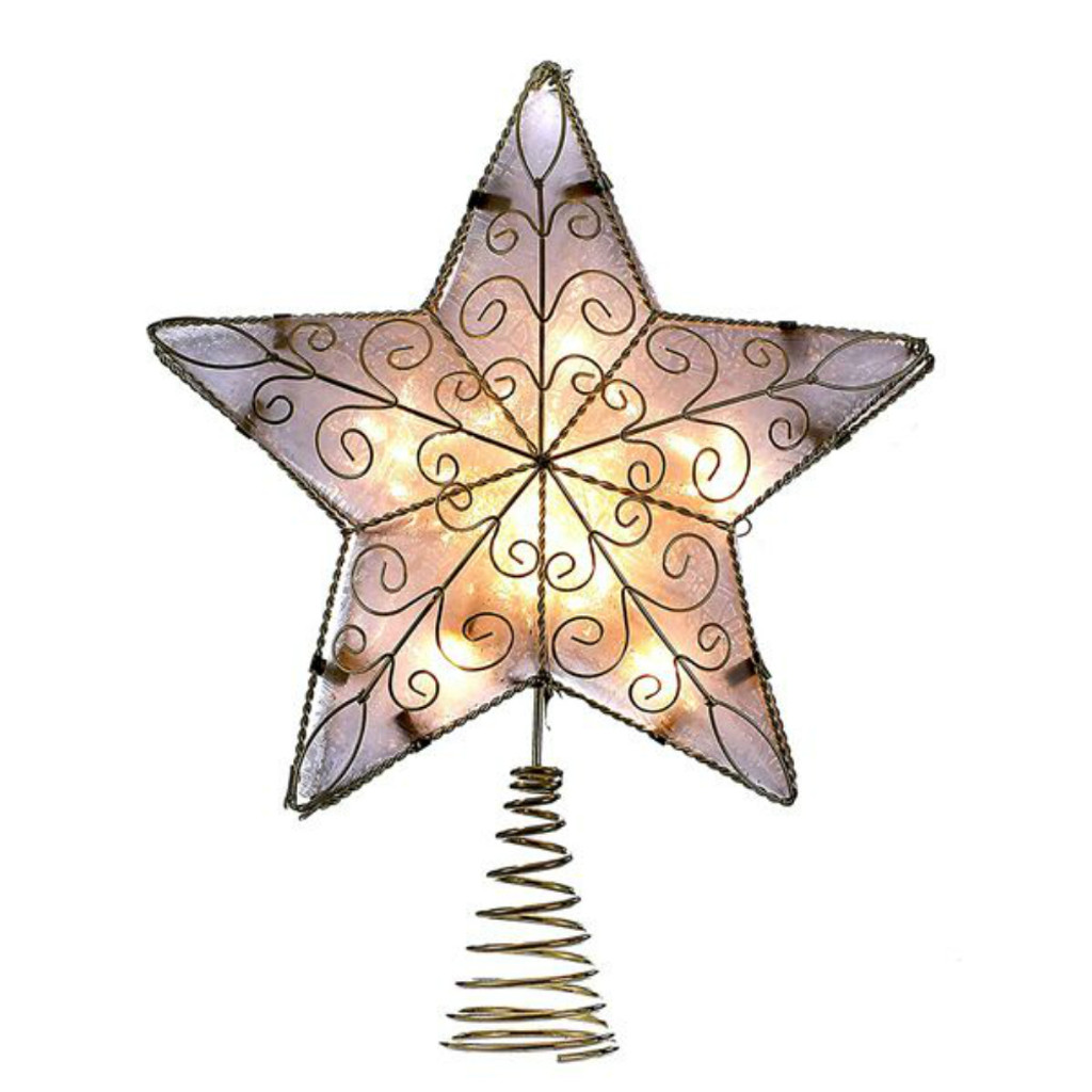 10 Lite Gold Star Tree Topper
