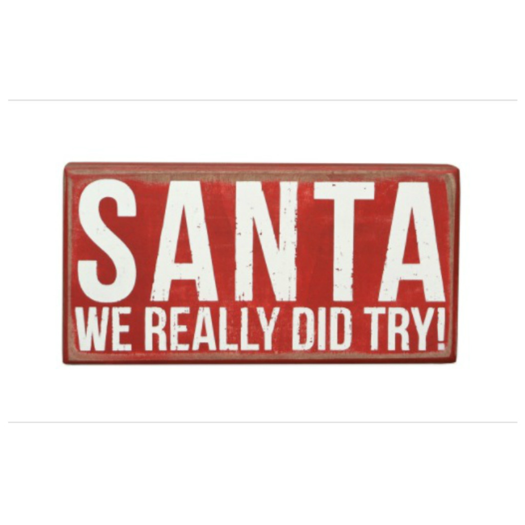 Dear Santa Box Sign