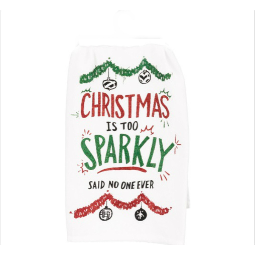 Too Sparkly Dish Towel