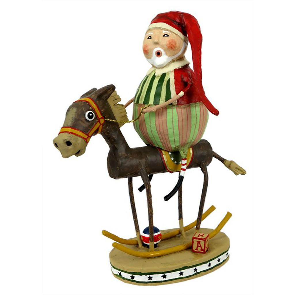 *New for 2017* Lori Mitchell Folk Art - Muletide Santa Figurine