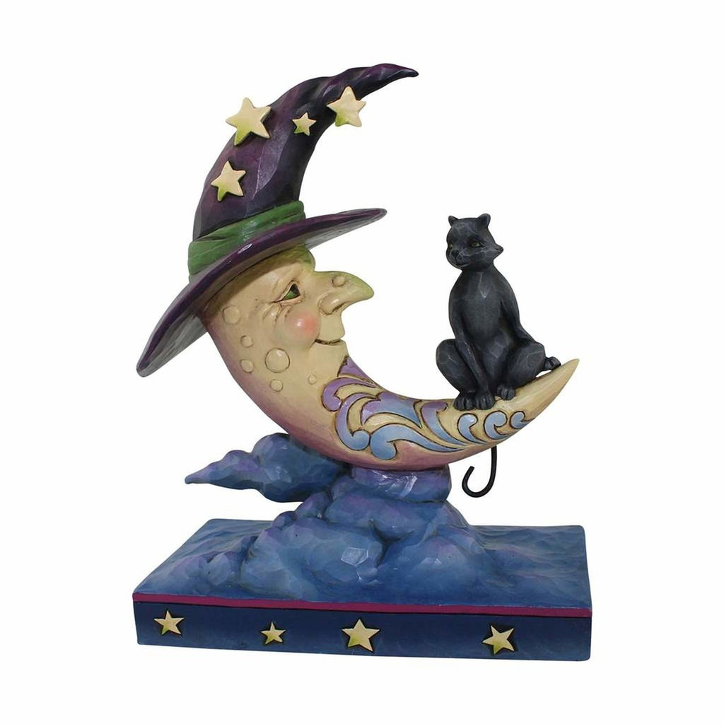 New 2017* Jim Shore Heartwood Creek- Crescent Witch Moon with Black Cat