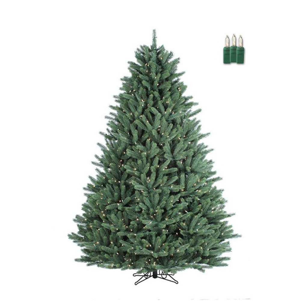 Santa's Own* 6 Foot- Crystal Mountain - Artificial Christmas Tree - Staylit® Clear lights -*FREE SHIPPING