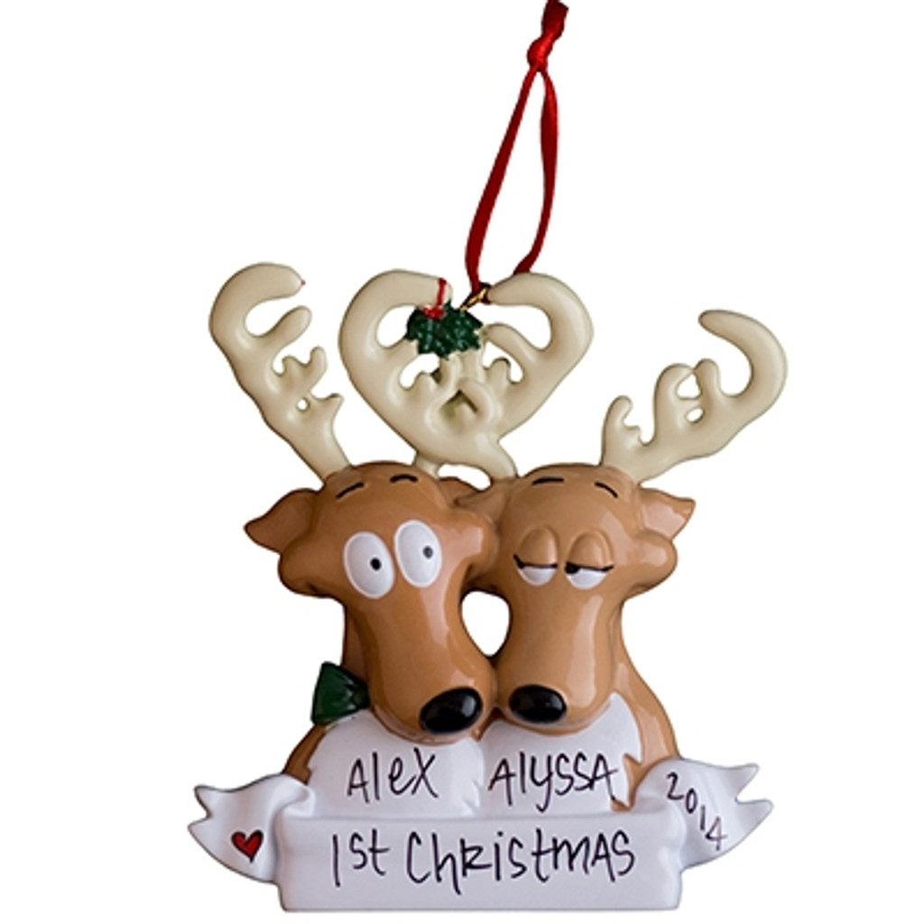 Free Personalization* Reindeer Couple in Love