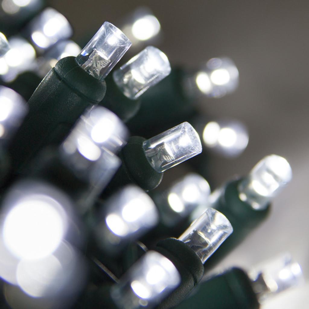 25 FT - COOL WHITE STRING LIGHTS - LED 5MM WIDE ANGLE (50 LEDS)
