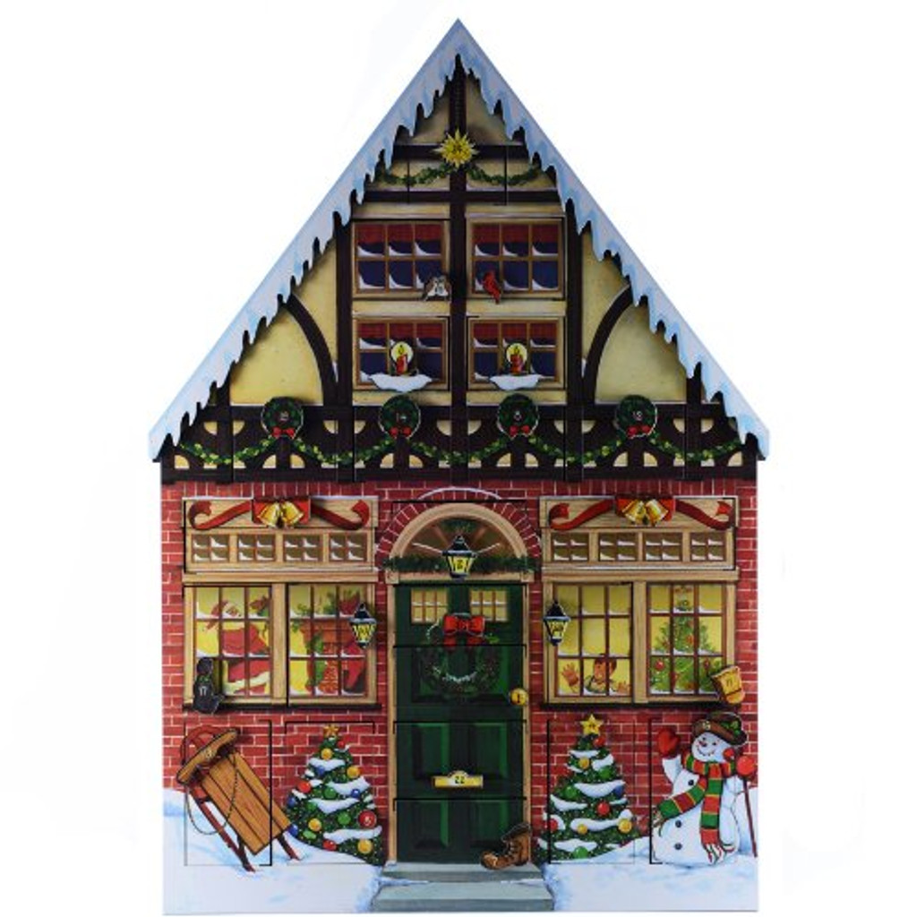 Byers' Choice Solid Wooden Christmas House  Advent Calendar