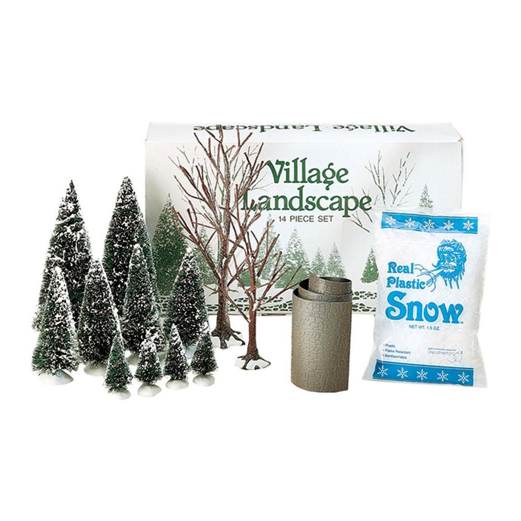 Department 56  Village Accessories - Landscape Trees Snow Road