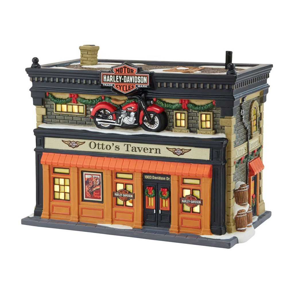 Department 56 - Christmas in The City Village - Otto's Harley Tavern Lit House