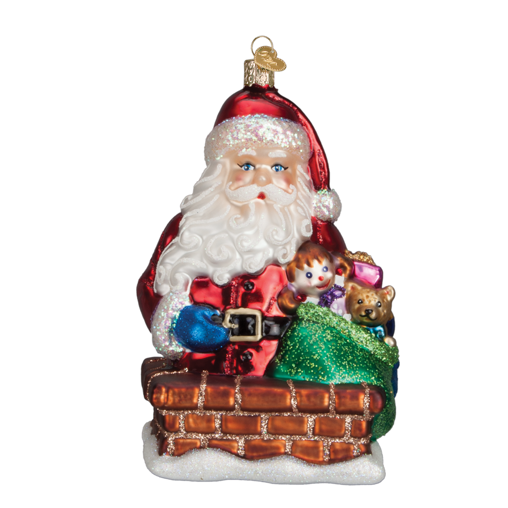 Old World Glass - Rooftop Visitor Ornament