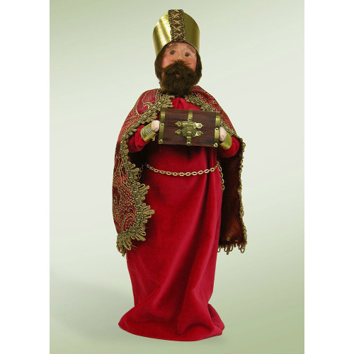 Byers' Choice Red Wise Man with Chest of Myrrh