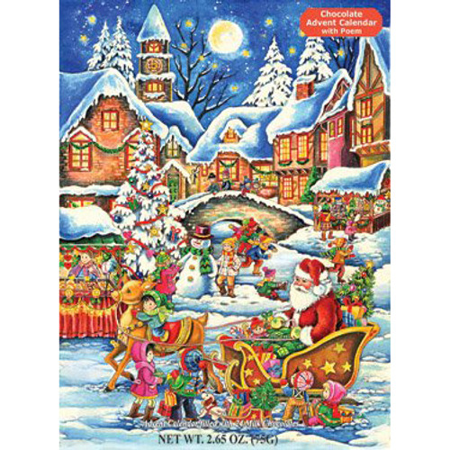 Delicious 'Santa's Here' Chocolate Advent Calendar
