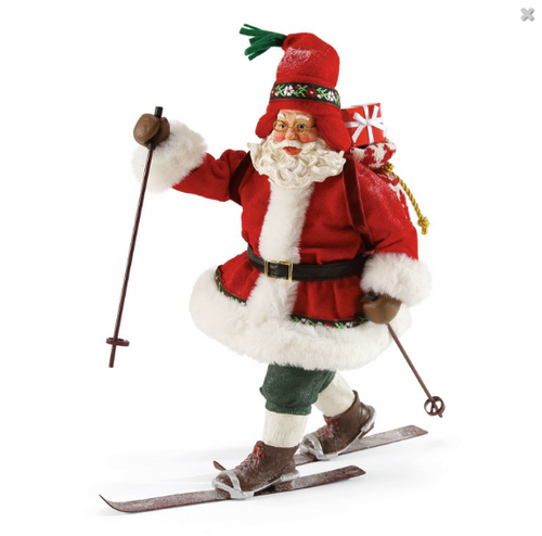 "Department 56, Possible Dreams, Nordic Fun Santa ""Clothtique"" Figurine"