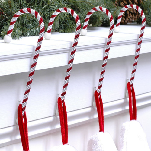 Candy Cane Stocking Holders -  pack of TWO!