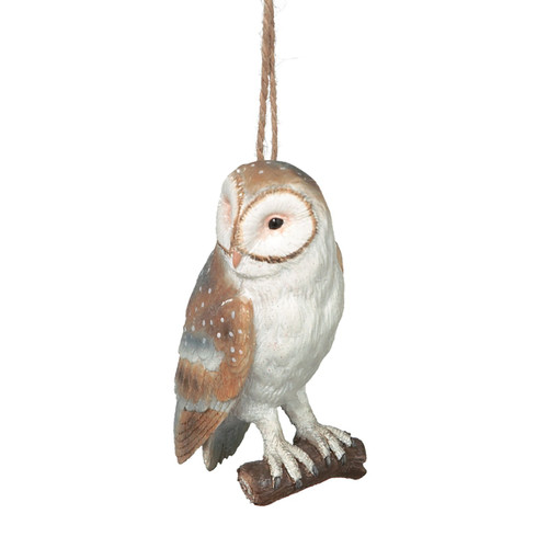 Brown and Snow White Owl Ornament