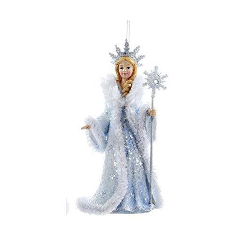 Snow Queen with Staff Ornament