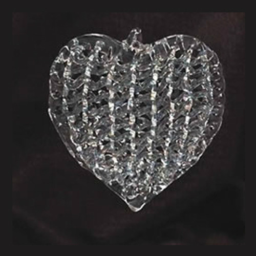Spun Glass 2 Inch Heart Ornament Set of 4