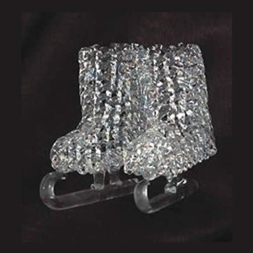Spun Glass Pair of Ice Skates Ornament