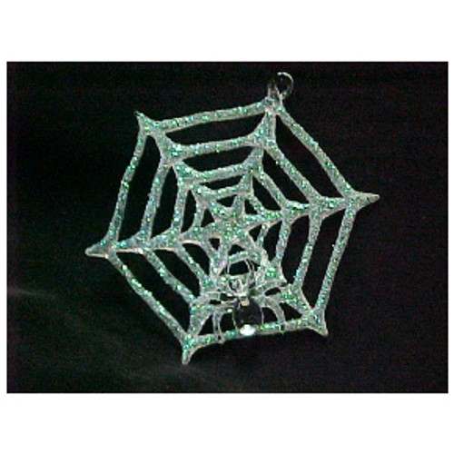 Spun Glass Spider Web Ornament