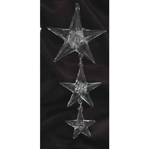 Spun Glass Triple Star Ornament