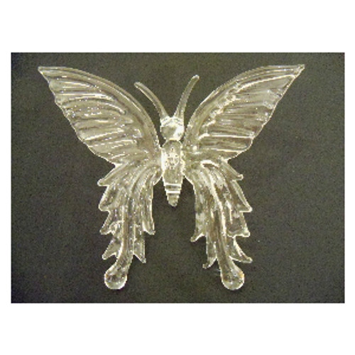 Spun Glass Elegant Butterfly Ornament