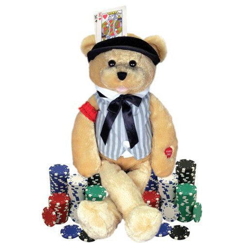 "CHANTILLY LANE - ANIMATED GAMBLER BEAR  SINGS ""THE GAMBLER"""