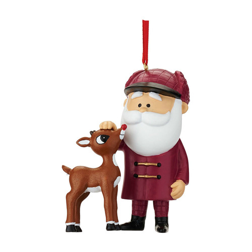 Department 56--Rudy and Santa Ornament