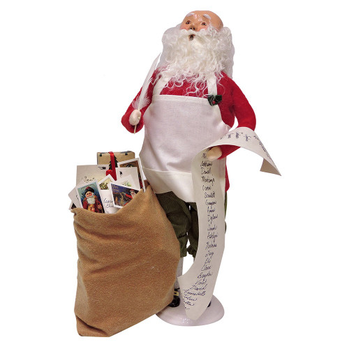 2016 Byers Choice - Bald Santa with Mailbag