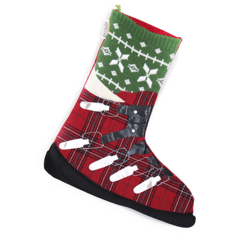 SKI LOVERS ALPINE SKI BOOT CHRISTMAS STOCKING