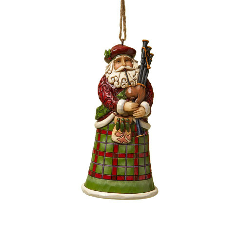 Jim Shore Heartwood Creek - Scottish Santa Ornament