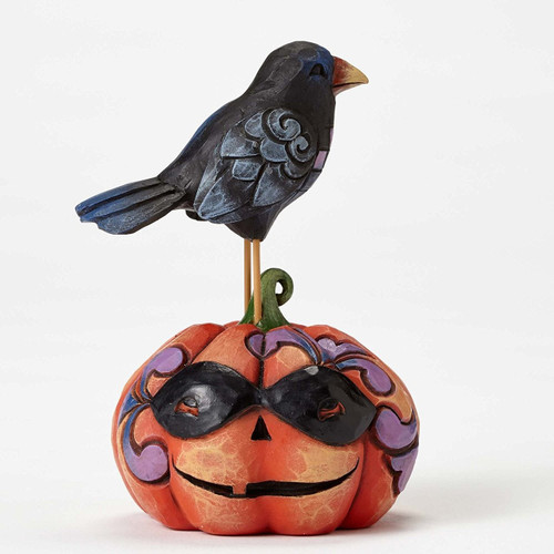 Jim Shore Heartwood Creek -  Mini Crow on Pumpkin