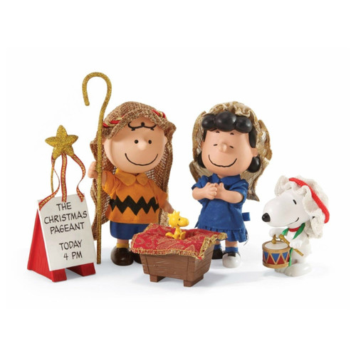 "Department 56 - Peanuts Clothtique ""The Christmas Pageant"" 5-Piece Set"