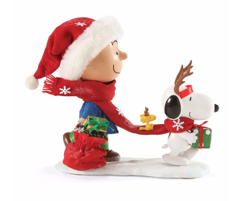 "Department 56 - Peanuts Clothtique ""Reindeer Games"" Figurine"