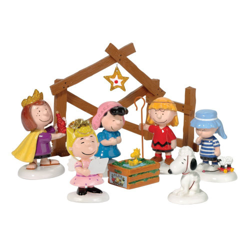 Department 56 - Peanuts Pageant Nativity Set of 8