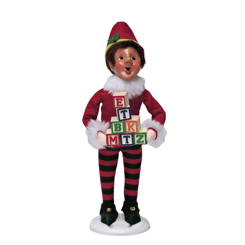 Byers Choice - Bing Elf with Blocks
