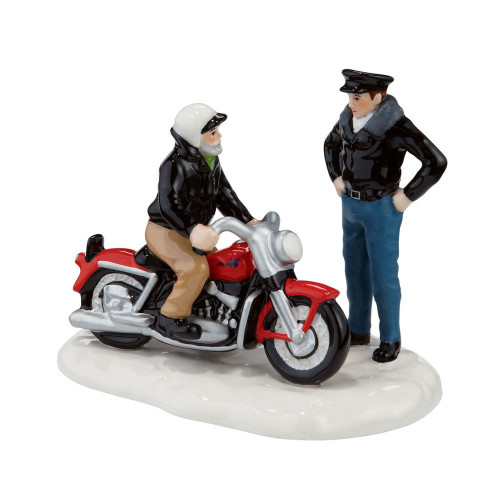 Department 56--The Original Snow Village--A New '56 Harley-Davidson