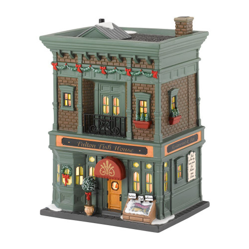 Department 56 -- Christmas in The City Village -- Fulton Fish House