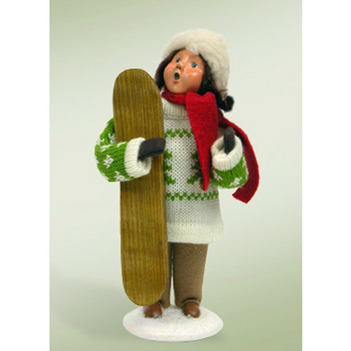 Byers Choice -  Girl with Snowboard
