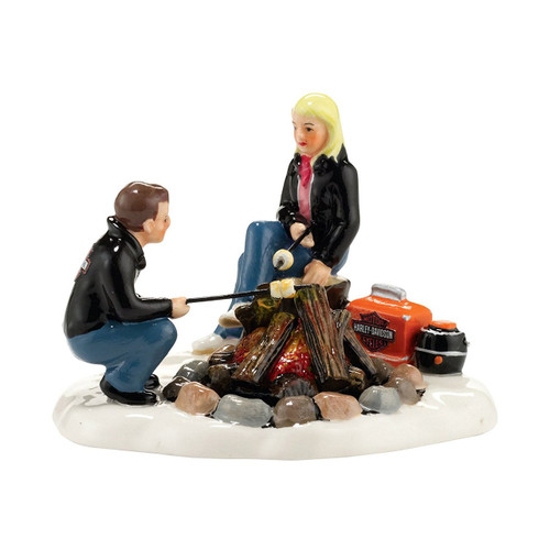Department 56-  Original Snow Village - Harley Campfire Accessory