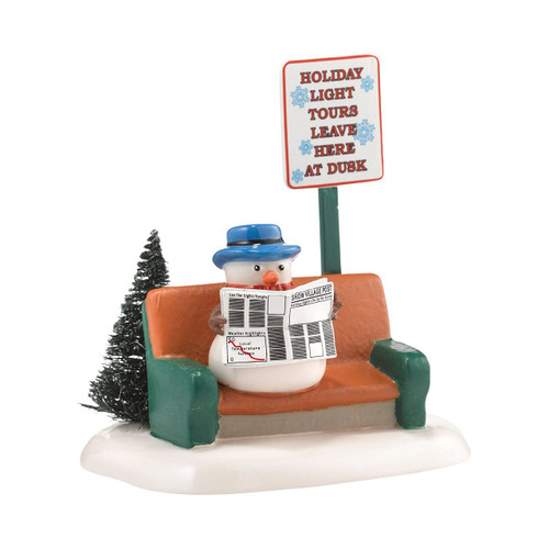 Department 56 Original Snow Village Checking The Weather Accessory, 4.09-Inch