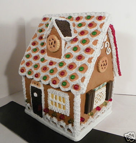 Byers Choice - Chocolate Shutter Chalet Gingerbread House