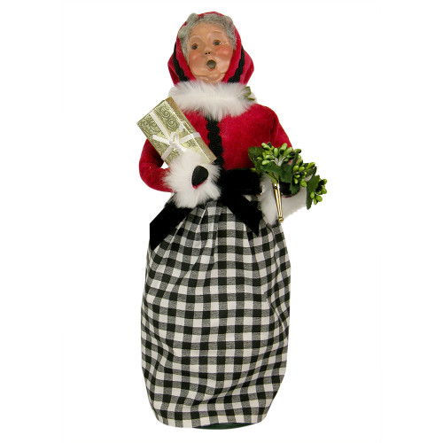 Byers Choice - Mrs. Claus with Black and White Checks