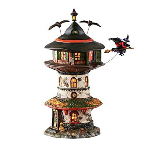 Department 56 - Halloween Village- Witch Way Home Tower