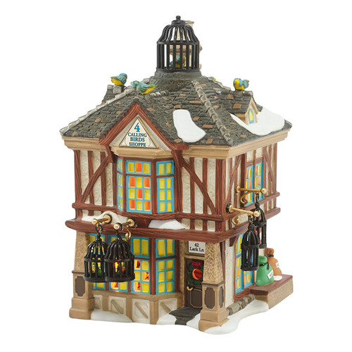 Department 56 Dickens Village Four Calling Birds Shoppe Light House, 7.17""