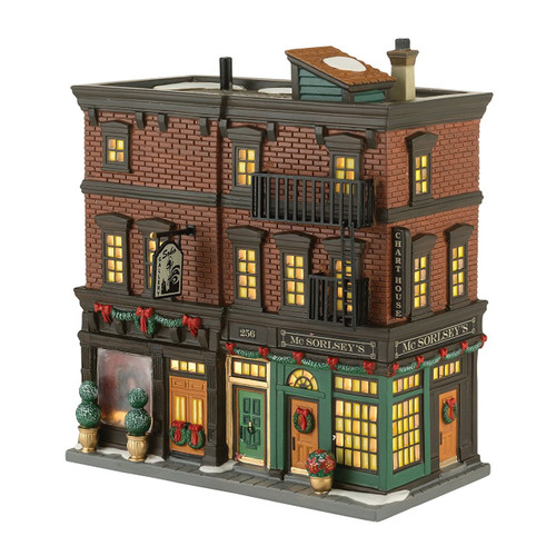 Department 56 Christmas in The City Village Soho Shops Lit House, 7.67-Inch