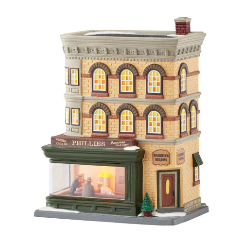 Department 56 Christmas in the City Village Nighthawks Porcelain Lighted House