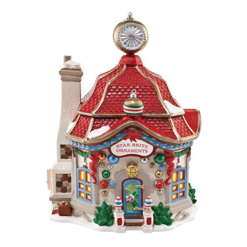 Department 56 North Pole Series Village Star Brite Glass Ornament Lit House, 7-Inch