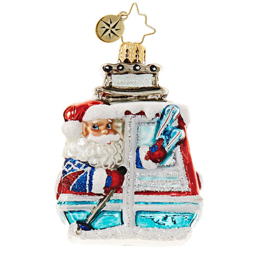 Christopher Radko - Santa on the Slopes Little Gem Christmas Ornament